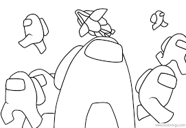 Among Us Coloring Pages Astronauts.