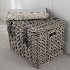 Fishermanu0027s Wicker Basket   Large At STORE. Chunky Lidded Rattan Storage  Basket With Distressed Leather Hasps For That Country Look.