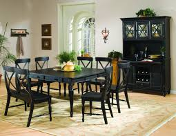 China  Curio Cabinets Natural - Dining room table and china cabinet