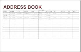 Phone Book Template Excel