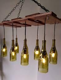 diy wine bottle chandelier