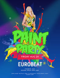 Green Party Flyer Blue And Green Paint Party Flyer Template Postermywall