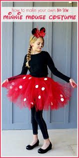 super simple no sew minnie mouse costume diy