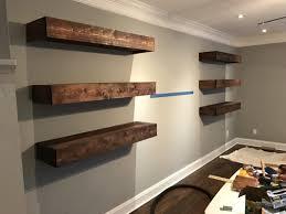 How To Make Floating Shelves With Lights Diy Floating Shelves Bonus Room Makeover Project
