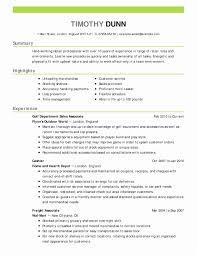 Skills Summary For Resume Examples Fresh Example A Resume Fresh