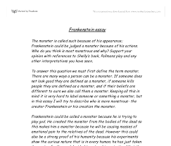 essays on frankenstein frankenstein essay gcse english marked by frankenstein essay gcse english marked by teachers comdocument image preview