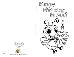 Happy Birthday Card Printable Template Printable Happy Birthday Cards Free Create For Card Template