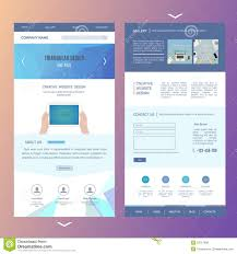 Modern One Page Website Template Design With Stock Vector