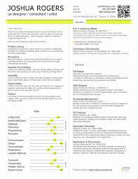 Ux Resume Template Fedoraquick Com