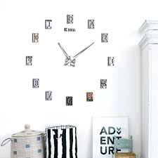 wall clock wall clock decal modern design mirror sticker dominoes hanging decor removable