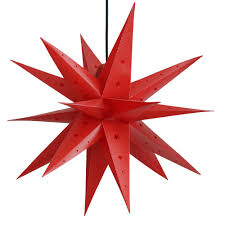Etime Adventsstern Weihnachtsstern Stern 3d Kunststoff Außenstern Faltstern Fensterstern Deko 60cm Rot Faltstern Rot