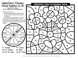 You can color the images online. Valentine S Day Color By Number Math Games For Addition And Subtraction