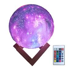 3d Printing Moon Lamp Kids Night Light 16 Color Change Touch Star Light