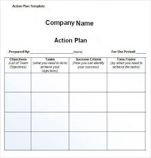 Improvement Plans Templates Free Action Plan Template