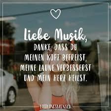 Visual Statements Liebe Musik Danke Dass Du Meine Kopf Befreist