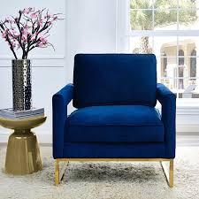Navy Blue Velvet Chair Avery Blue Velvet Chairs