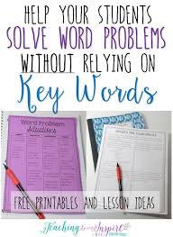solving word problems without relying on key words