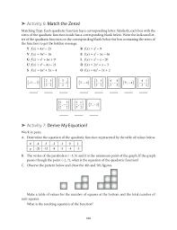 introducing quadratic equationatching equations to
