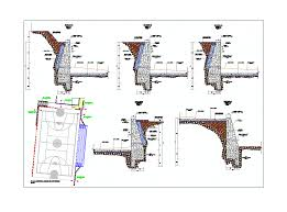 Small Picture Retaining wall stone masonry in AUTOCAD DRAWING BiblioCAD