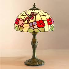 tiffany medium dragonfly shade antique brass table lamp 30cms in glamorous dragonfly table lamp decor