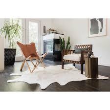 monumental cowhide rug alexander home rawhide ivory 5 0 x 6 com