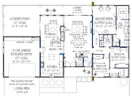 FREE Contemporary House Plan  FREE Modern House Plan   The House    alternate furniture layout