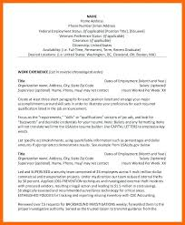 How To Write A Resume For A Federal Job Jobs Resume Example