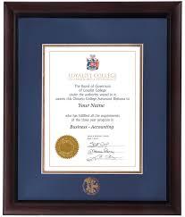 loyalist college diploma frames buy loyalist college frames online brentwood diploma frame
