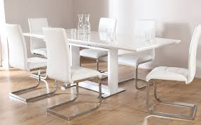 osaka perth extending high gloss dining room table and 4 view larger