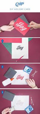 DIY holiday card | Q-tips Holiday Hacks, check them out at https: