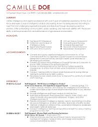 Free Military To Civilian Resume Builder Professional Military Intelligence Professional Templates To 32