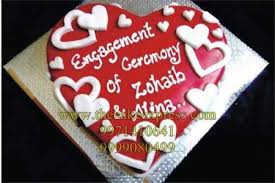 Send Engagement Heart Shape Cake To Gurugram Online Buy Engagement