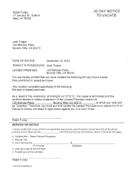 15 30 Day Notice From Landlord To Tenant Resume Cover