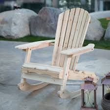 patio porch all weather indoor outdoor natural adirondack rocking chair