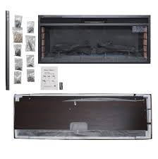 akdy fp0096 44 standing electric fireplace brown wooden mantel