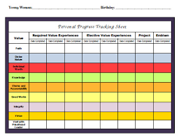 Personal Progress Tracking Sheet