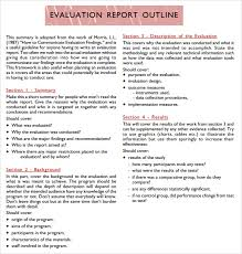 12+ Sample Evaluation Reports | Sample Templates