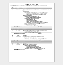 Project Quotation Template 18 Doc Pdf Quote