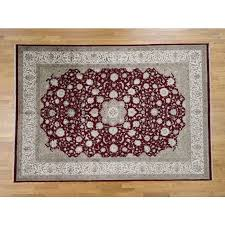 8 1 x11 6 300 kpsi kashan wool and silk hand knotted