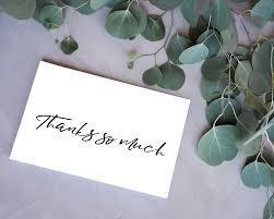 Black White Thank You Cards Free Printable Kleinworth Co