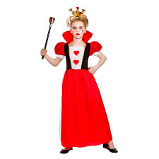 s kids storybook queen of hearts fairytale fancy dress costume um ages 5 7