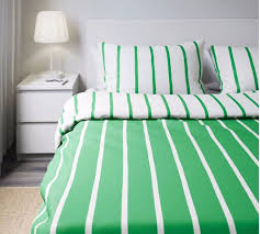 details about ikea tuvbracka green white double duvet cover and 4 x pillowcase 502 964 57