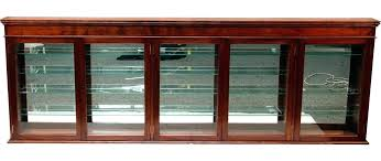 wall display cabinet with glass doors glass door wall display cabinet large wood 1