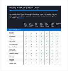Plan Comparison Chart Comparison Chart Template 13 Free Sample Example Format