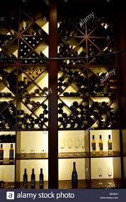 wine rack lighting. Backlit Wall Wine Rack With Glasses And Bottles Of Lighting