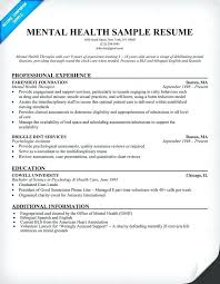 sample mental health counselor resume mental health resume example health  resume samples pdf 2017