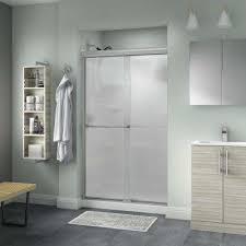 everly 48 in x 70 in semi frameless traditional sliding shower door in