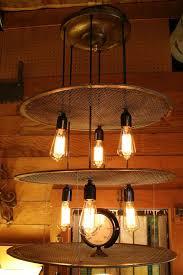 3 tier vintage sieve hanging light fixture an old portland hardware architectural original