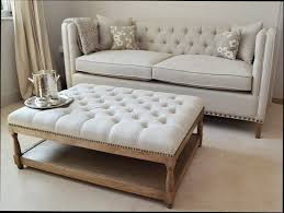upholstered ottoman coffee table upholstered coffee table with tray living room