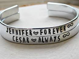 amazing idea customized couple bracelets aliexpress aziz bekkaoui snless steel lover jewelry keep me in your heart crystal name logo from